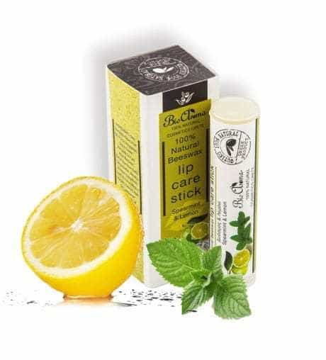 Lip balm with lemon and spearmint 5ml.