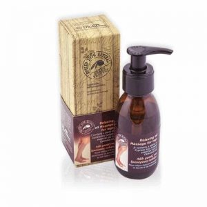 Relaxing massage oil for legs 100ml.