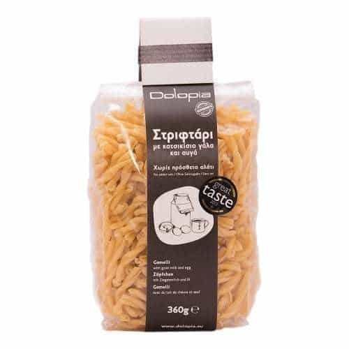 Gemelli with goat milk and eggs. (360gr)