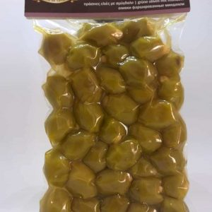 Green olives with almonds.
