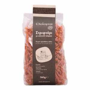Gemelli with ground red smoked paprika. 360gr.
