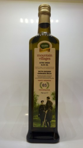Mountain villages extra virgin olive oil, 750ml.