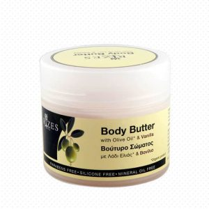 Body butter with olive oil & vanilla.