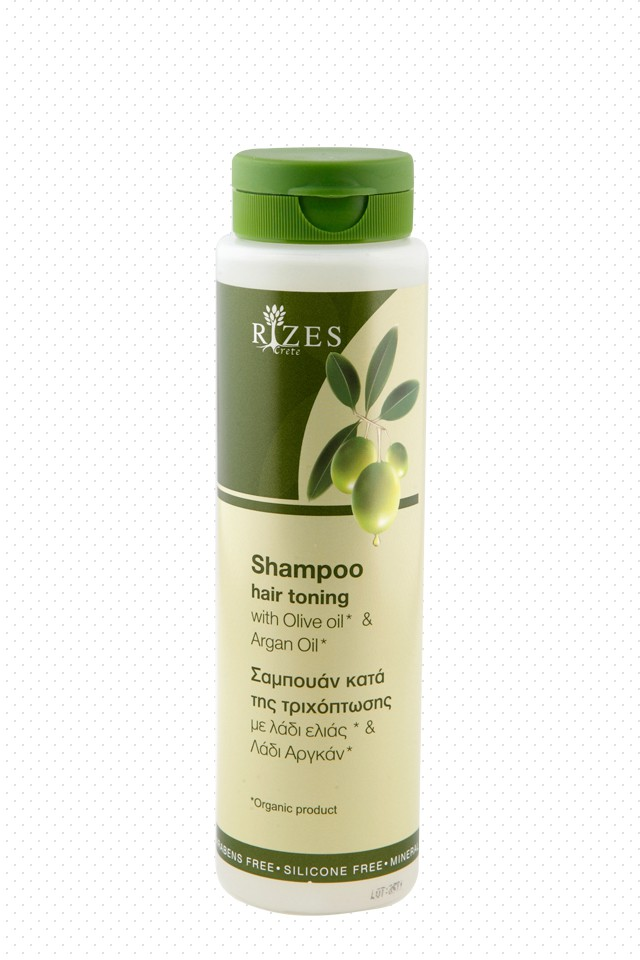 Hair toning shampoo with olive oil and argan oil.