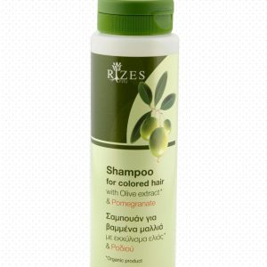 Shampoo for coloured hair with olive extract and pomegranate.