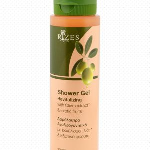 Revitalizing shower gel with olive oil & exotic fruits.