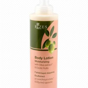 Moisturising body lotion with olive oil and lavender.