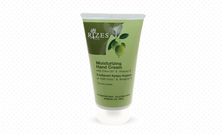 Moisturizing hand cream with olive oil and vitamin E.