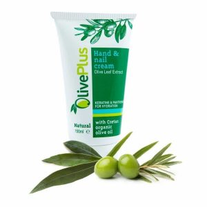 Hand and nail cream with olive leaf extract 150ml.
