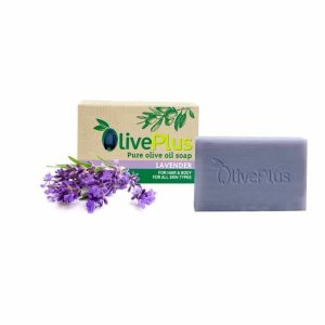 Olive oil soap with lavender.