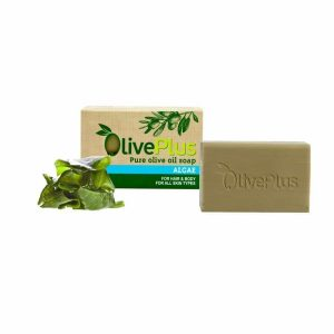 Greek natural organic olive oil soap with sea algae – 100gr