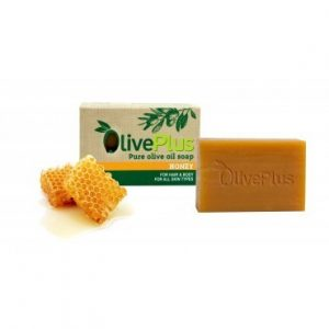 Natural Greek organic olive oil soap with Honey – 100gr