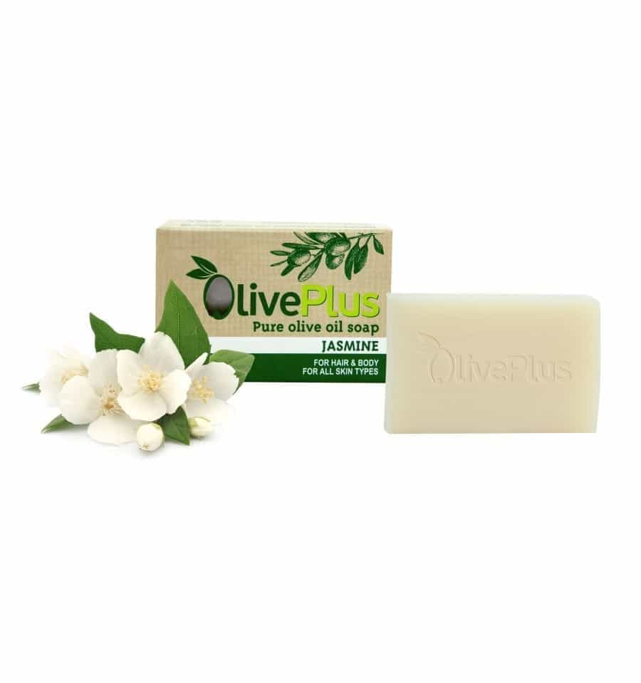 Natural Greek organic olive oil soap with Jasmine – 100gr