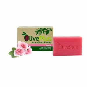 Natural olive oil soap with rose extract – 100gr