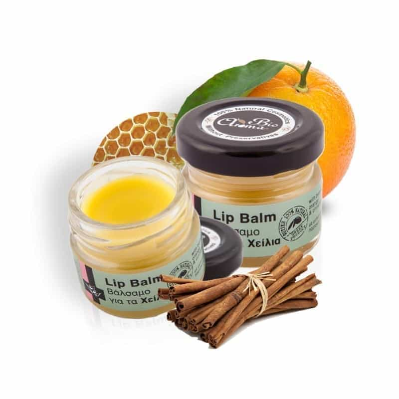 Natural Lip balm Orange and cinnamon 25ml.
