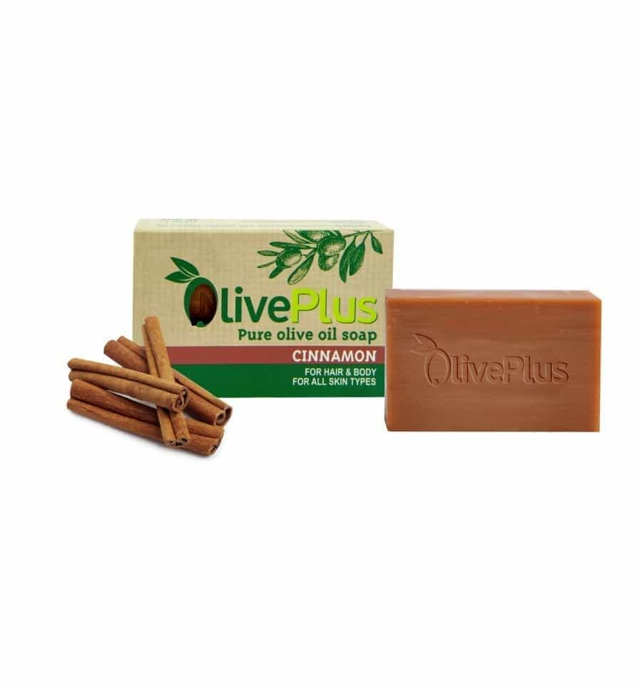 Natural olive oil soap with cinnamon extract 100gr
