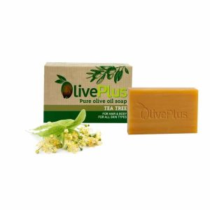 Natural olive oil soap with tea tree 100gr
