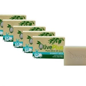5 x Donkey milk with biological olive oil soap 100gr.