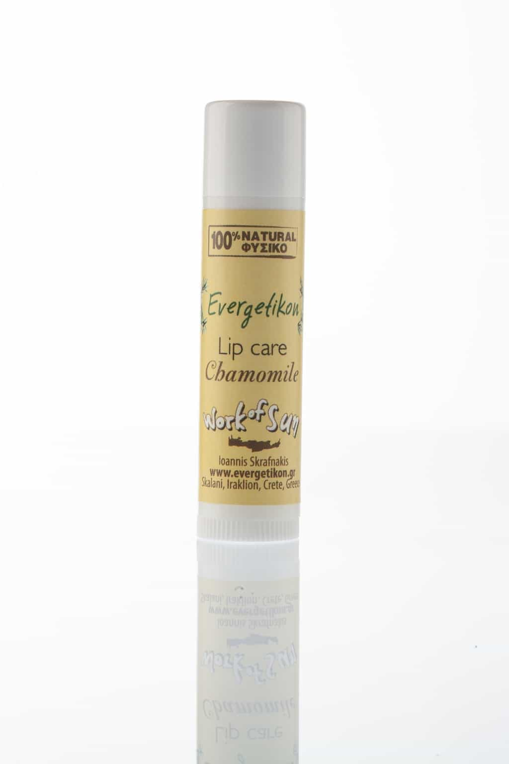 Cretan beeswax lip care stick Chamomile Evergetikon 6ml.