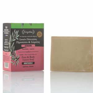 Natural, high quality, Cretan extra virgin olive oil honeysuckle soap 130-160gr