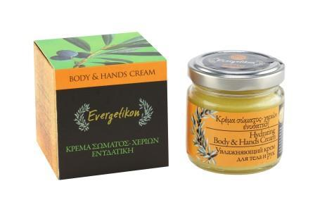 Hydrating Body and Hand Cream essence of Cretan Evergetikon 100ml.
