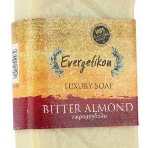 Natural, Cretan extra virgin olive oil bitter almond soap 130gr.