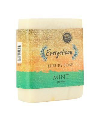 Natural, high quality, soap with Cretan extra virgin olive oil and Mint. 130-160gr.