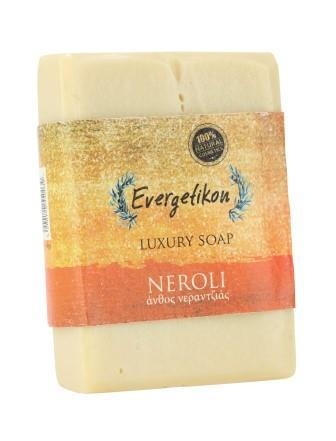 Natural, high quality, Cretan extra virgin olive oil Neroli soap 130gr.