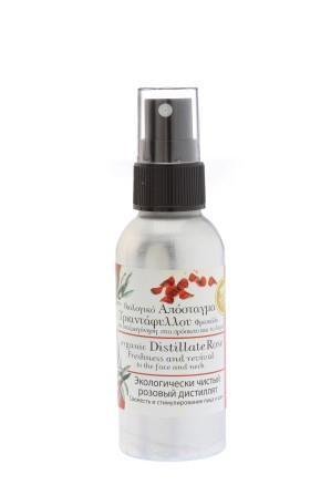 Organic rose distillate spray for freshness and revival for face and neck 30ml.