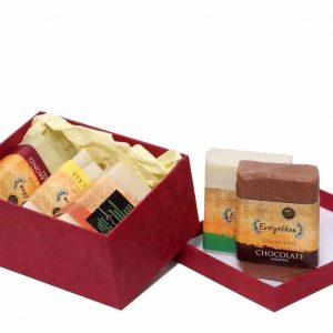 The perfect Christmas gift 5 super luxury soaps in gift box.