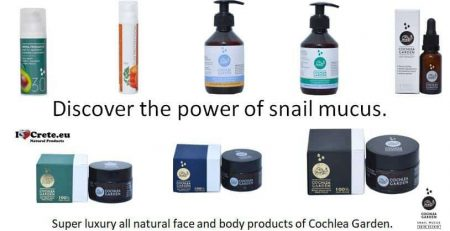 snail mucus luxury cosmetics only available at ilovecrete.eu