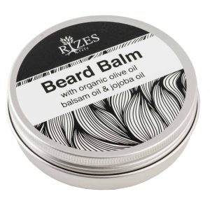 Beard balm with organic olive oil, balsam oil and jojoba oil.