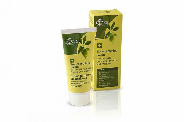 Rizes Herbal soothing cream for skins with Dermatitis, Eczema and Psoriasis