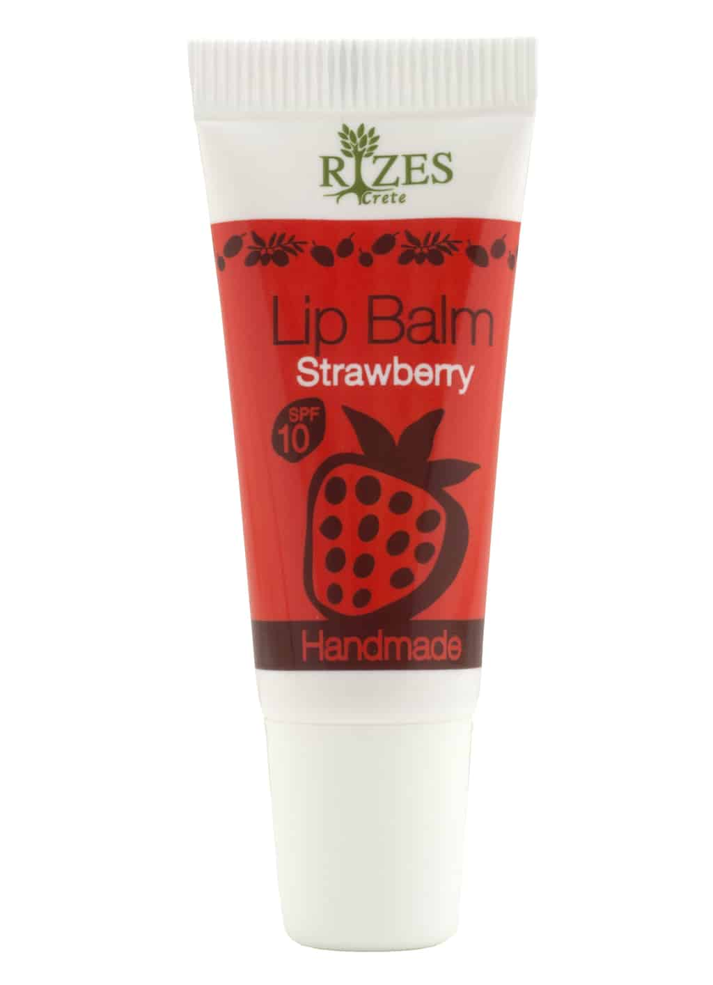 Lip balm with SPF strawberry, without Vaseline