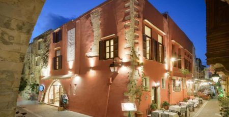 Front outside Veneto Boutique Hotel, Rethymno - Crete - Greece